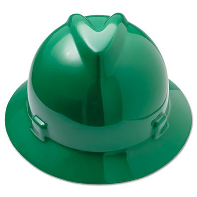 V-Gard Hard Hats, Fas-Trac Ratchet Suspension, Size 6 1/2 - 8, Green, Sold as 1 Each
