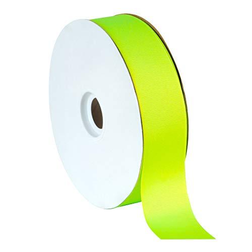Berwick Offray Offray Grosgrain Ribbon-1-1/2 W X 50 Yards Ribbon, New Neon Lime ()