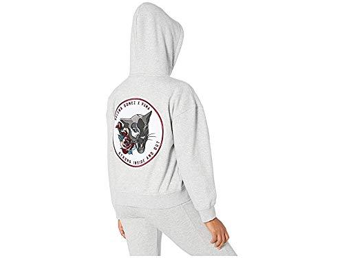 PUMA x Selena Gomez Women's Full Zip Hoodie Sweater, -Light Gray Heather, M