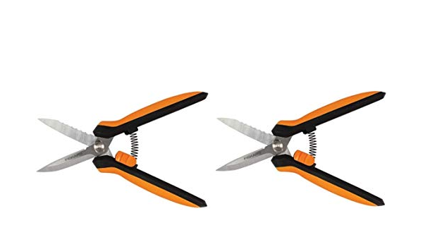Fiskars Garden 399220 Multipurpose Garden Snips Black//Orange Black//Orange 2-Pack