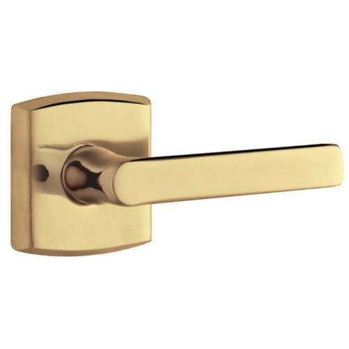(Baldwin 5485V.MR Pair of Soho Estate Levers without Rosettes, Satin Brass and)