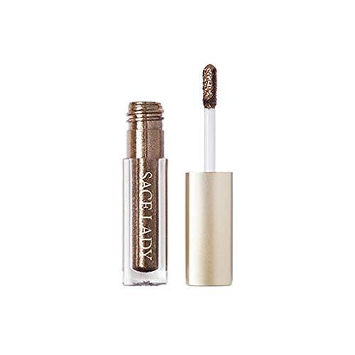 Hennta metálico Brillante Ojos ahumados Eyeshadow Impermeable Glitter líquido Eyeliner, te Hacen más Seguro y Hermoso