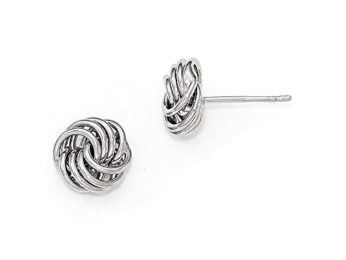 Finejewelers 14k White Gold Polished Love Knot Post Earrings