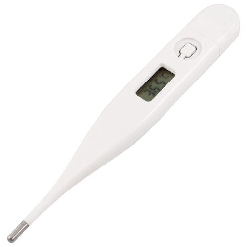 White Plastic Shell LCD Display Digital Thermometer 32-42
