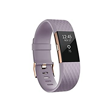 Fitbit Charge 2 Heart Rate Fitness Wristband, Special Edition (Lavender Rose Gold, Small)