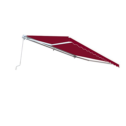 ALEKO AW10X8BURG37 Retractable Patio Awning 10 x 8 Feet Burgundy (Out Crank Patio Awning)