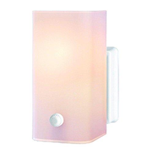 Hampton Bay 1-Light Semi-Flush Mount Ceramic White Bath Light