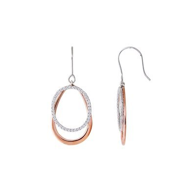 Loop Boucles d'oreilles-Argent/Gold