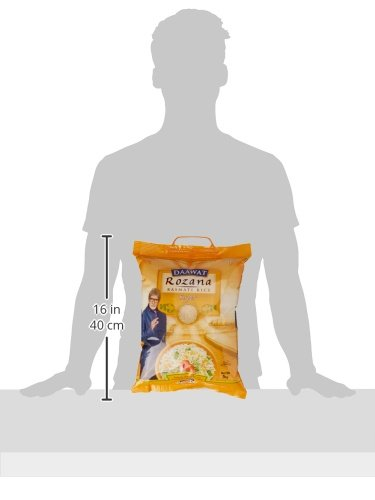 Daawat Rozana Super, Naturally Aged, Rich Aroma,Perfect Fit for Everday Consumption Basmati Rice, 5 Kg 2021 August Rozana is above medium length product Original basmati nourished by snow fed rivers of great Himalayas Budget friendly. Color: White. Maximum shelf life: 24 months