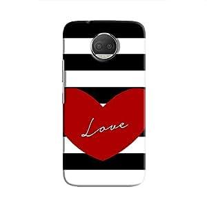 Cover It Up Love Stripes Hard Case For Moto G5S Plus, Multi Color