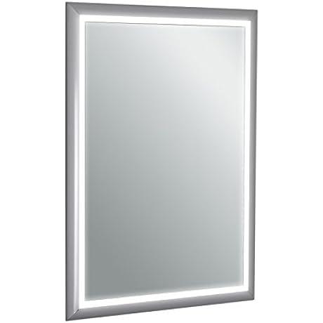Eviva X EVMR18 20 X 28 Sedona Wall Mounted Bathroom Vanity Backlit LED Mirror With Frame Lights Combination Aluminum