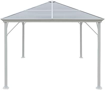 Christopher Knight Home 303382 Halley Outdoor 10 x 10 Foot Gazebo, White