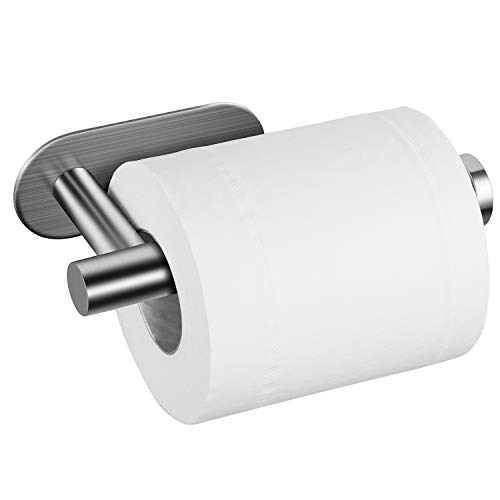Taozun Toilet Paper Holder Self Adhesive Bathroom Paper Towel Roll Holder Wall Mount, SUS 304 Stainless Steel