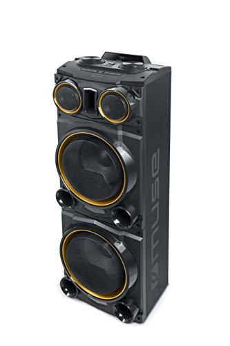 Muse M-1985 DJ PA-installatie 800 W, met Bluetooth en lichteffecten (USB, AUX, microfoonaansluiting, FM-radio…