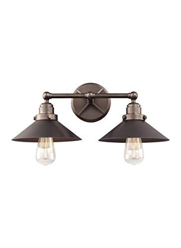 Feiss VS23402ANBZ Hooper Wall Vanity Bath Lighting, Bronze, 2-Light (20