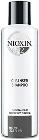 Nioxin Cleanser Shampoo System 2 for Natural Hair with Progressed Thinning, 10.1 Ounce