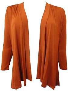 Xclusive Collection Plus Size Burnt Orange Boyfriend Cardigan ...