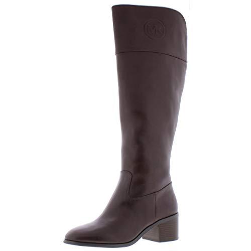 Michael Michael Kors Womens Dylan Leather Monogram Knee-High Boots