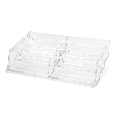 Acrylic Business Card Holder Office Desktop Business Card Display Card Case Stationery (Six Slots)