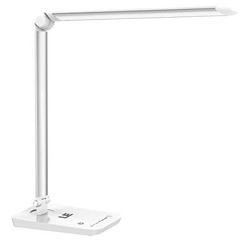Lighting EVER 3100017-DW-US High intensity 7-Level Brightness Adjustable LED Desk Lamp (Silver White), 1 (Best Lighting Ever Led Lamps)