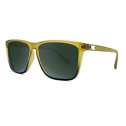 Knockaround Talkover-polarisierten Sonnenbrillen Amber Fade gefrostet/Aviator grün t73LqW