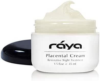 RAYA Placental Cream (402) | Restorative, Anti-Aging, and Moisturizing Facial Night Cream for All Non-Oily Skin | Calms Inflammation and Minimizes Pores