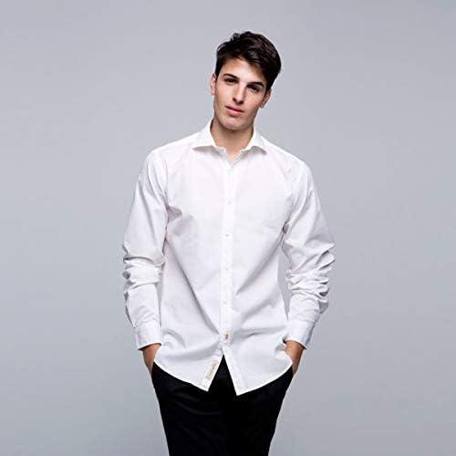 Twins and Bros Camisa Hombre Casual de Manga Larga Blanca de ...