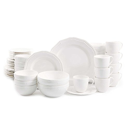 Casual, Porcelain Miranda 48-Piece Dinnerware Set