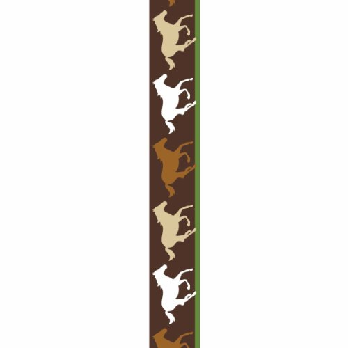 Offray Horse Silohettes Craft Ribbon, 7/8-Inch x 9-Feet, Brown - Horse Ribbon