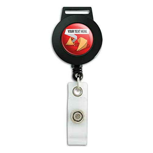 Personalized Custom Fortune Cookie Lanyard Retractable Reel Badge ID Card - Card Cookie Fortune