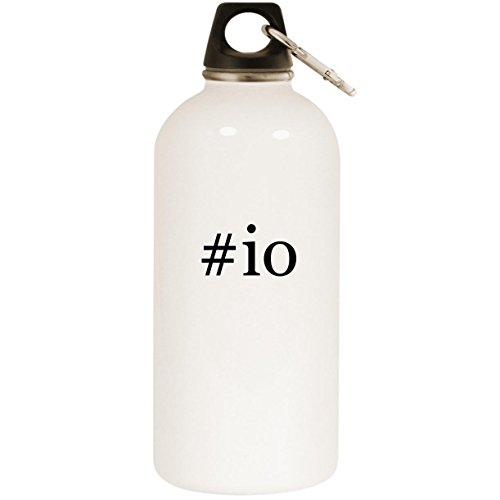 Molandra Products #io - White Hashtag 20oz Stainless Steel Water Bottle with Carabiner