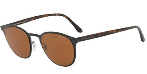 Giorgio Armani Mens Sunglasses Black/Brown Metal - Non-Polarized - 51mm