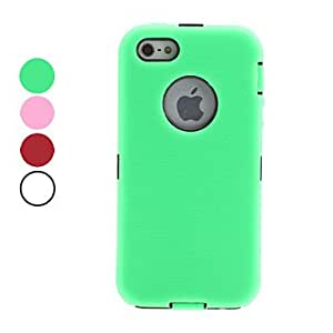 Detachable Full Body Hard Case for iPhone 5/5S (Assorted Colors) --- COLOR:Green