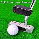 DaKuHo Black Golf Putter Laser Pointer Putting Golf Practice Aim Line Corrector Improve Aid Training Tool Golf Accessories