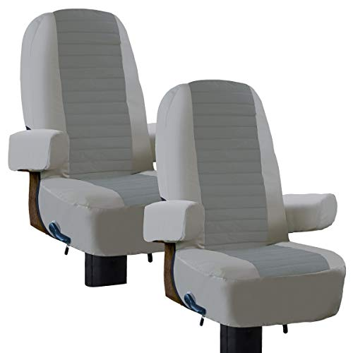 Classic Accessories 80-421-011002-RT Overdrive RV Captain Seat Cover-2 Pack, Grey (Chair Covers Seat Captains)