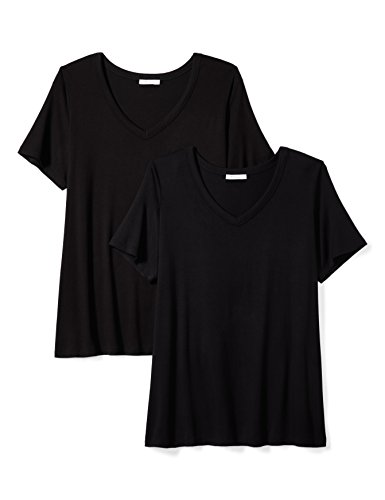 Daily Ritual Women's Plus Size Jersey Short-Sleeve V-Neck T-Shirt