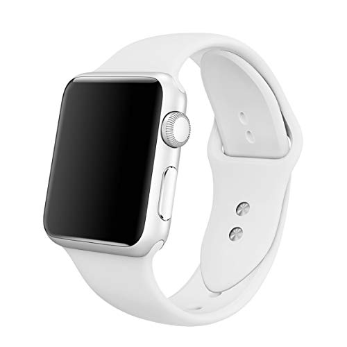 YC YANCH Compatible for Apple Watch Band 38mm 42mm 40mm 44mm, Soft Silicone Sport Band Replacement Wrist Strap Compatible for iWatch Series4, Series 3/2/1, Nike+,Sport,Edition, S/M M/L Size