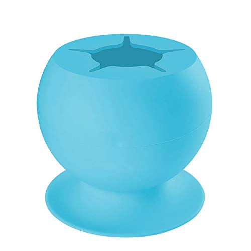 Uotmiki Suctioned Vinyl Weeding Scrap Collector, Silicone Suction Cups for Vinyl Disposing, Weeding Tools Kit for Vinyl, Weeder, CraftersScrapbooking Tools Silicone Suction Can (1pcs,Blue)