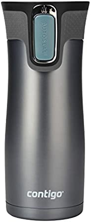 Contigo AUTOSEAL West Loop Vaccuum-Insulated Stainless Steel Travel Mug, 16 oz, Stormy Weather