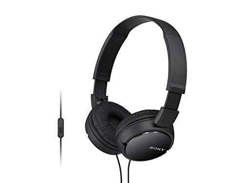 Sony MDRZX110AP ZX Series Extra Bass Smartphone Headset with Mic  Black