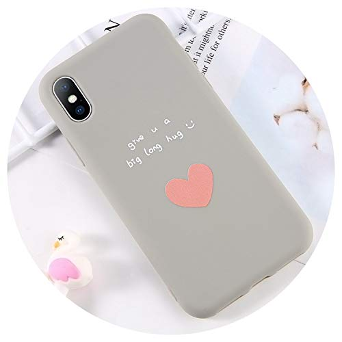 Phone Case for iPhone 6 6s 7 8 Plus X XR XS Max Cute Cartoon Letter Love Heart Cactus Soft TPU for iPhone X Phone Case,T4,for iPhone 8 Plus ()