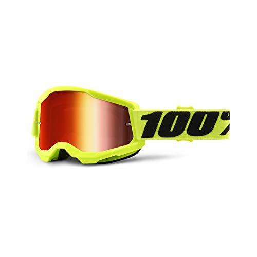 100% Strata 2 Motocross & Mountain Biking Goggles – MX and Mountain Bike Racing Protective Eyewear