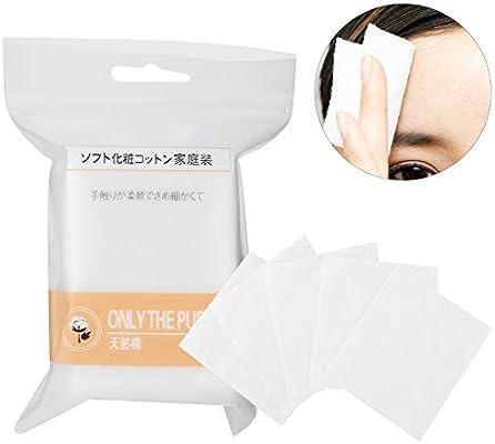 Almohadilla de algodón ligera o multicapa, desmaquillante cosmético y limpieza facial, húmeda y seca/limpia para la cara/desmaquillante (90 pcs): Amazon.es: Belleza