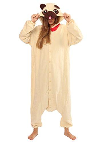 Max The Dog Costume For Adults (Pug Dog Kigurumi - Adult Costume)