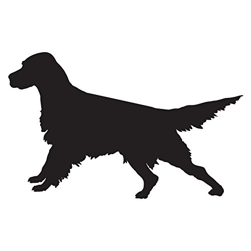 English Setter Ready (Black - Reverse Image - Small) Decal Sticker - Hunting Dog Collection ()