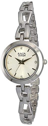 Titan Analog White Dial Women #39;s Watch NM2540SM06/NN2540SM06