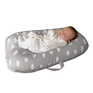Baby Lounger Bed Bassinet for Baby Shower Gift Portable Infants Crib for 0-6 Months Cotton,Removable cover, Flame Resistant Filling by YGJT
