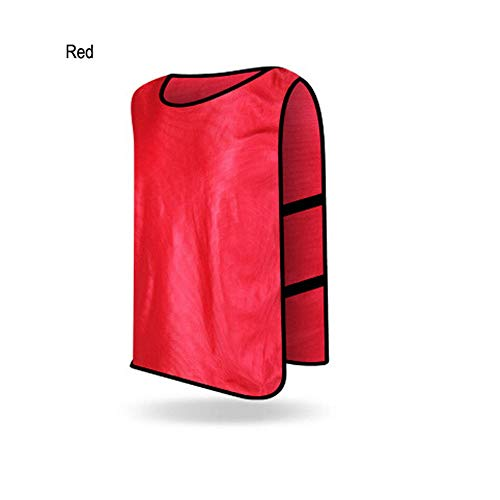 (Rayauto 12pcs Kids Adult Scrimmage Jerseys Vest Soccer Basketball Football Pinnies Shorts)