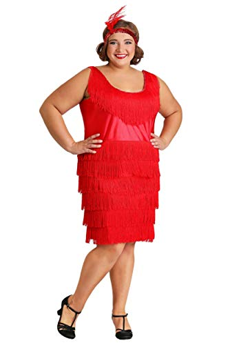 Red Plus Size Flapper Dress -