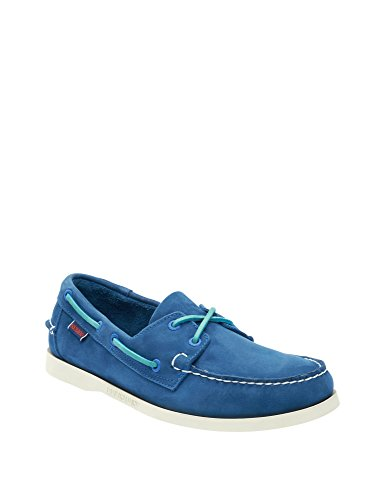Shoes Docksides Men's Leather Nubuck Blue Blu Sebago Men's Leather qxT50wI5YE